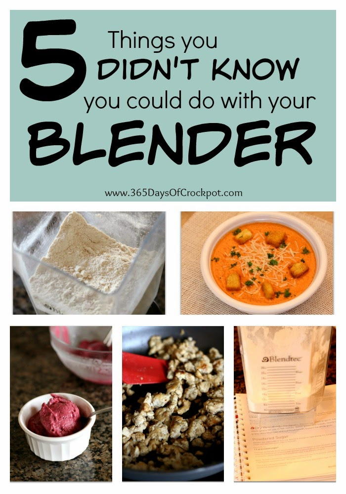 5 ways to use your blender that you may not have known!  I love the last one the best :)