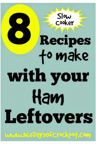 8 {Slow Cooker} Recipes to Make with Your Ham Leftovers