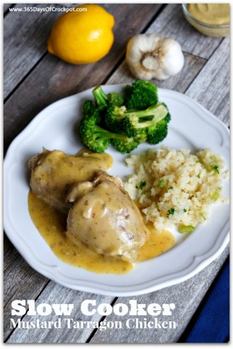 So Easy a Husband Can Do It:  Slow Cooker Tarragon-Mustard Chicken (with video)