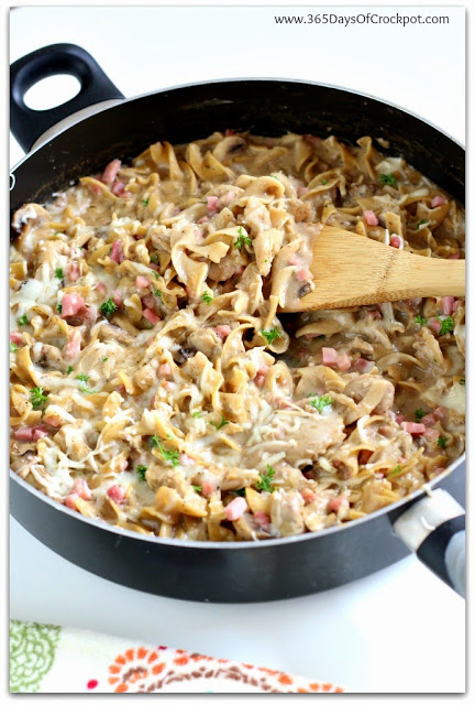 One Skillet Dish: Chicken Cordon Bleu Stroganoff Recipe