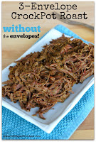 3-Envelope Crockpot Roast (without the envelopes) #easydinner #crockpotdinner
