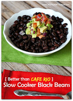 (Better than Cafe Rio) Slow Cooker Black Beans #caferio #mexicanfood #blackbeans #crockpot
