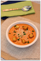 A simple but totally flavorful recipe for blender roasted red pepper soup!
