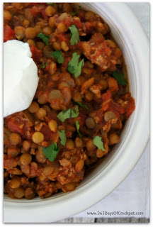Healthy recipe for crockpot turkey lentil chili