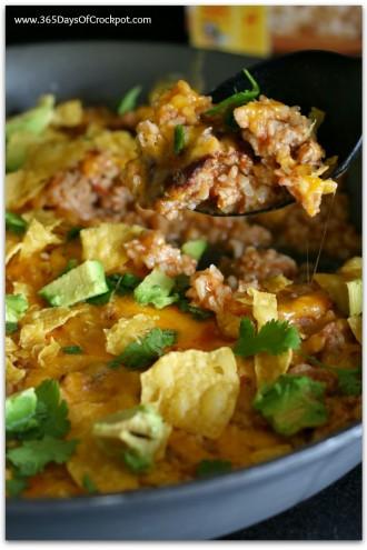 One Skillet Cheesy Salsa Rice (+KitchenAid® giveaway)