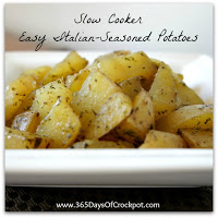 Recipe for Easy Slow Cooker Italian-Seasoned Potatoes #crockpot