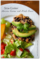 Recipe for Slow Cooker Mexican Quinoa and Black Beans (vegan slow cooker recipe)