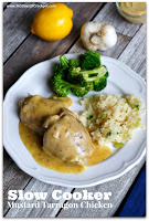 Recipe for Slow Cooker Tarragon-Mustard Chicken #chickenrecipe #easydinner #crockpotrecipe