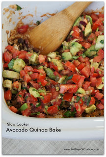 Recipe for Mexican Avocado Quinoa Casserole...super easy and totally healthy!