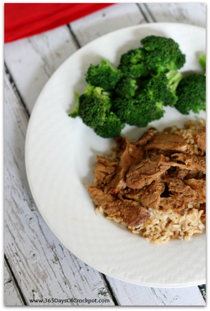 Slow Cooker Korean Barbecue Sauce with Pork, Chicken or Beef