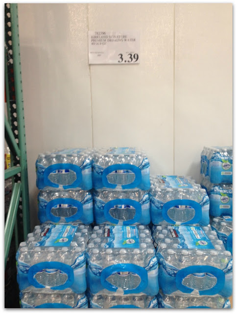 bottled water from costco is a good deal at only 8.4 cents per bottle