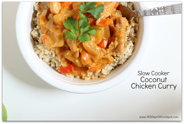 Coconut Chicken Curry in the slow cooker...easy and restaurant quality