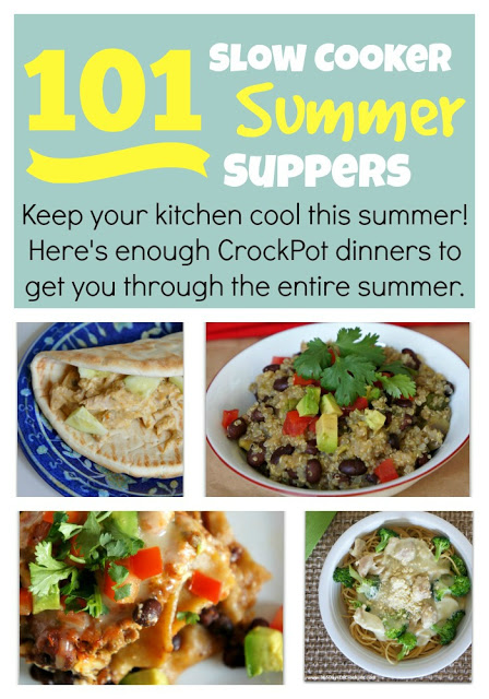 101 Crockpot summer recipes--perfect to menu plan for the whole summer