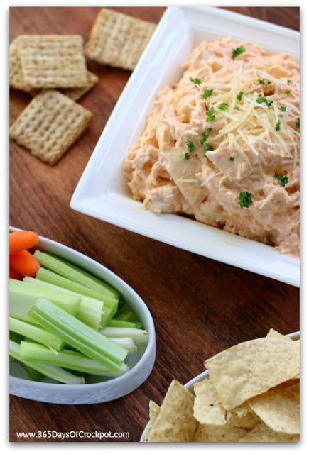 Instant Pot Buffalo Chicken Dip--A seriously addictive, 3-ingredient buffalo chicken dip made in your electric pressure cooker. A perfect party food!