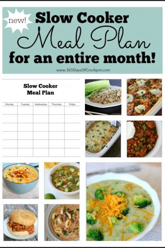 Slow Cooker Meal Plan for an Entire Month