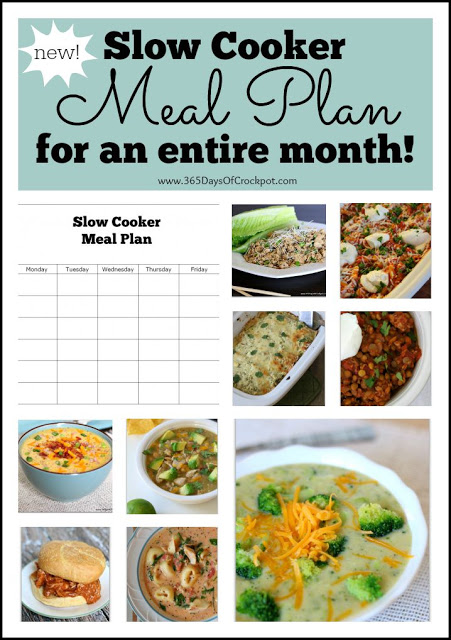 A new and awesome slow cooker meal plan for an entire month