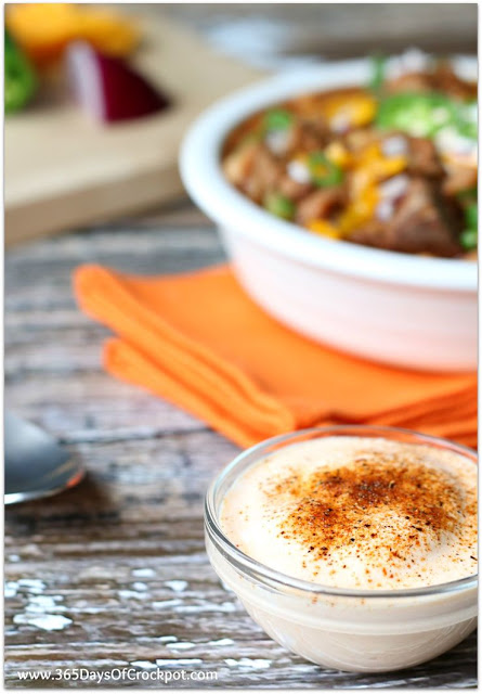 Top your chili with cajun lime sour cream...it is sooo good.