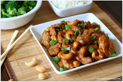 make this crockpot cashew chicken in the comfort of your own home.