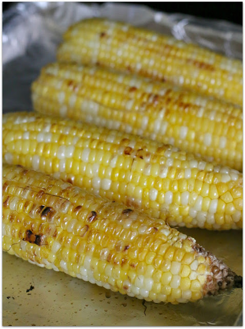 roasted corn on the cob in the oven