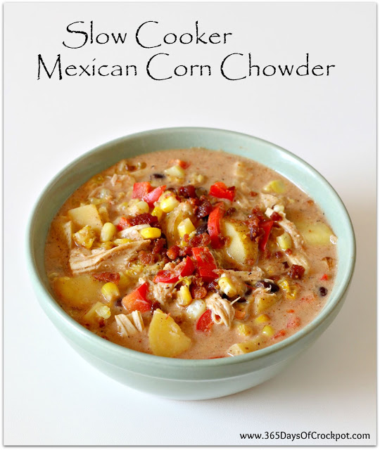Corn chowder in the slow cooker (Mexican style)