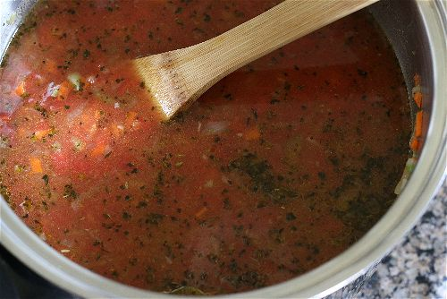 a chunky tomato basil soup recipe with tons of flavor