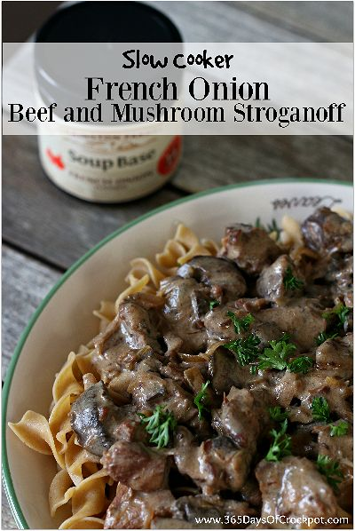 2 of your favorite recipes in one dish--French Onion Soup and Beef Stroganoff