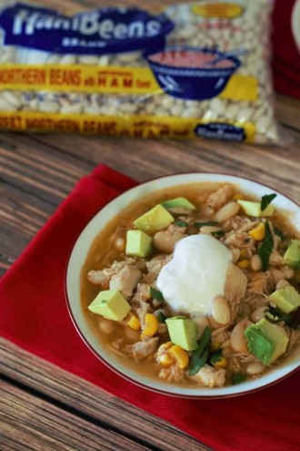 Slow Cooker Chipotle White Bean Chicken Chowder