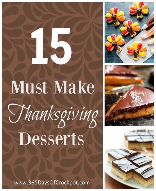 15 must make thanksgiving desserts 365 days of slow for Crock pot thanksgiving dessert recipes