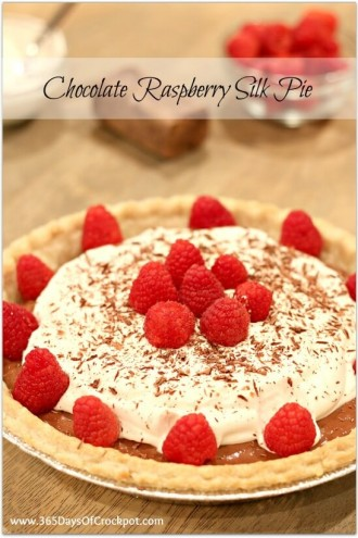 Chocolate Raspberry Silk Pie