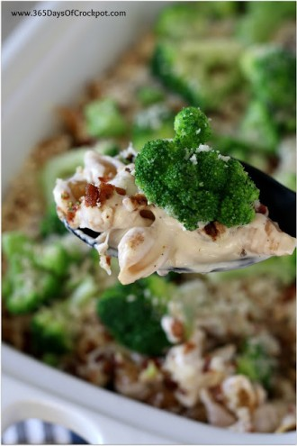 Creamy Bacon, Broccoli and Cauliflower Pasta Casserole with Parmesan (slow cooker or oven recipe)