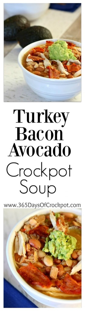 Slow Cooker Turkey Bacon Avocado and Bean Soup - 365 Days of Slow ...