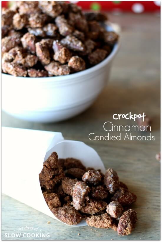 These are the best almonds! Make them in the crockpot for Christmas this year. They are also a great neighbor gift. Get free printable gift tags to go with it.