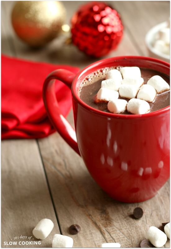 Creamy Slow Cooker Salted Caramel Hot Chocolate Easy 5 Ingredient Recipe 365 Days Of Slow