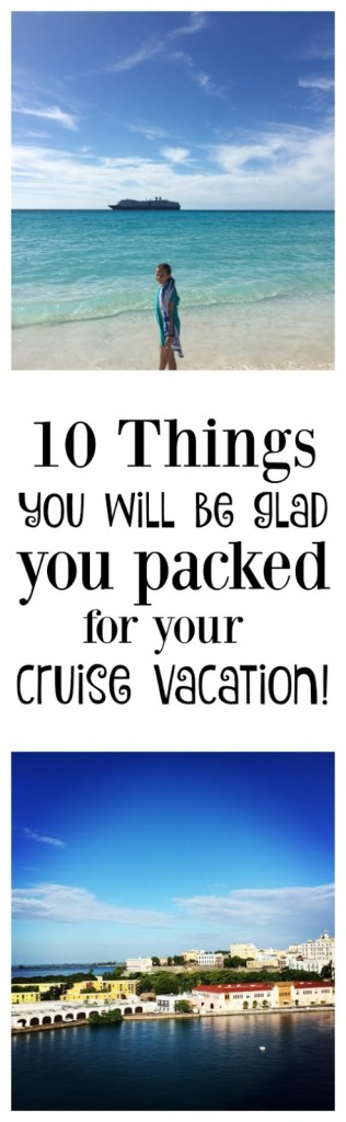 Things you will definitely want to bring on your cruise vacation! I hadn't thought of so many of these before. Very helpful tips!