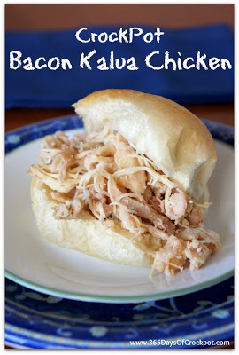 Slow Cooker Bacon Kalua Chicken #crockpotdinner #chicken