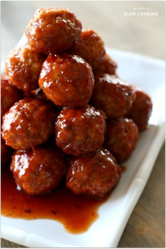 Slow Cooker 3-Ingredient Party Meatballs