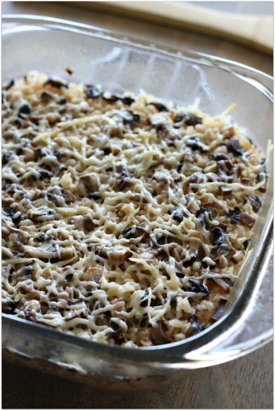 a great side dish for dinner--oven baked parmesan garlic brown rice