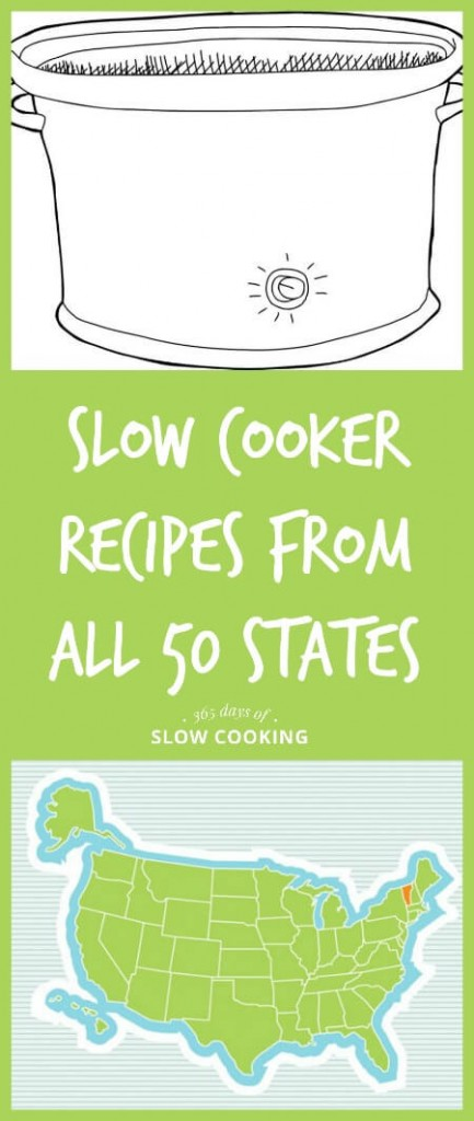 Slow cooker recipes inspired by the 50 states. Which state are you from?