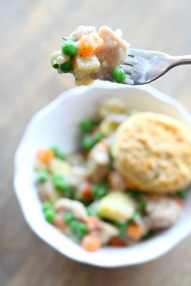 Slow Cooker Chicken Pot Pie from Scratch
