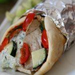 Slow Cooker Pork Gyros with Tzatziki Sauce