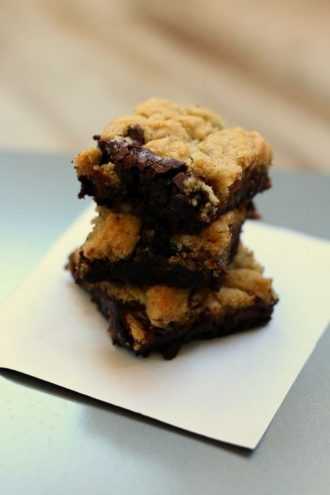 Gluten Free Chocolate Chip Cookie Brownies (Brookies or Crownies?)