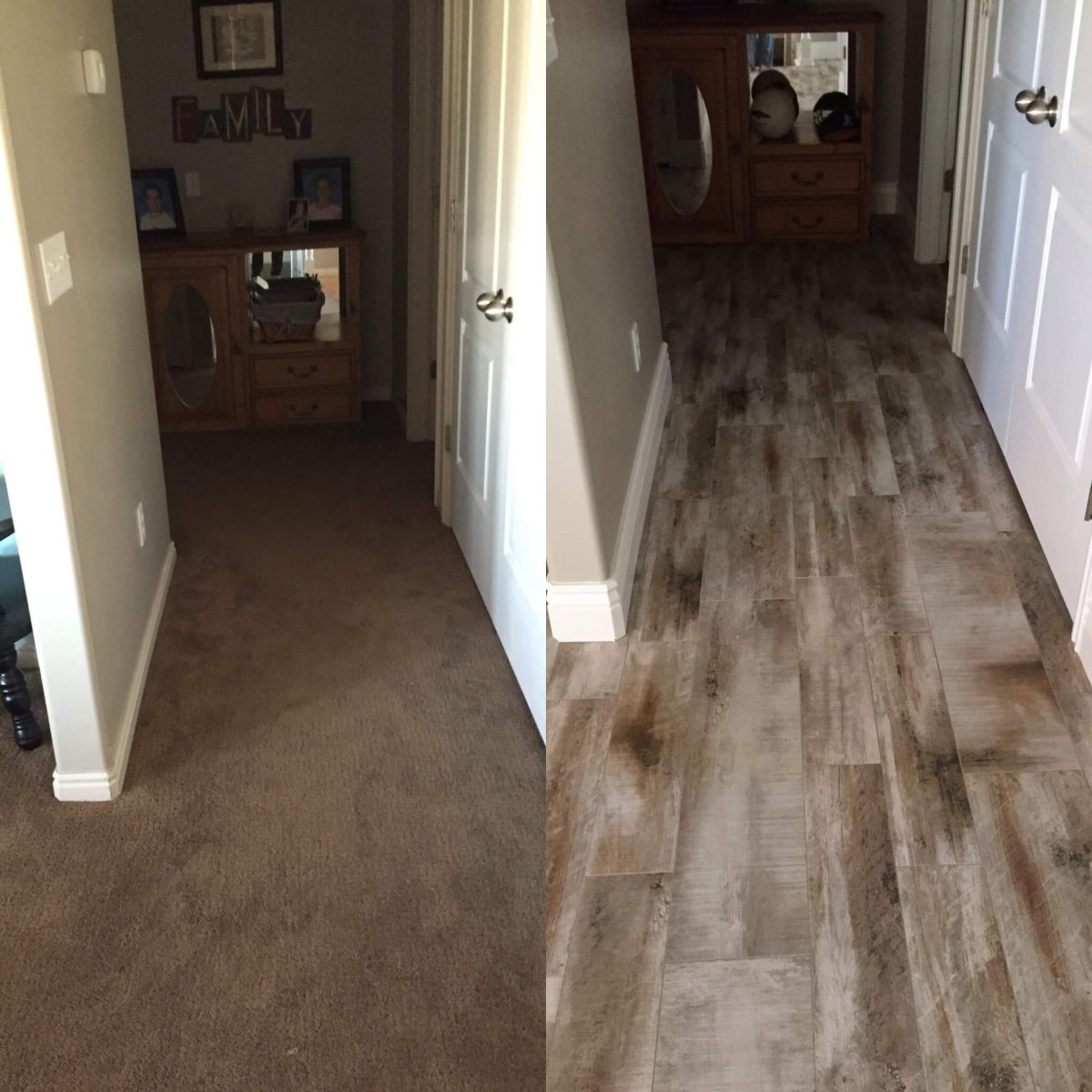Flooring before and after reveal wood looking tile 365 days of buy direct in layton utah flooring that looks like wood but is tile dailygadgetfo Gallery