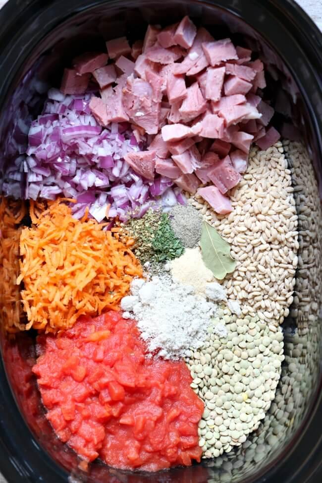 Crockpot Recipe for Ham and Barley Soup