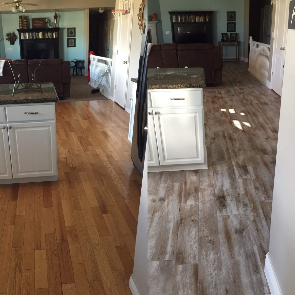 wood looking tile  treyburne antique chateau flooring before and after reveal wood looking tile   365 days of      rh   365daysofcrockpot com