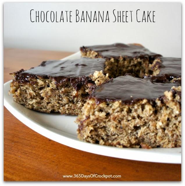 recipe for chocolate banana sheet cake