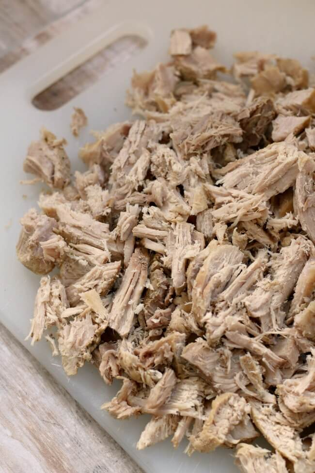 low fat shredded pork in the crockpot