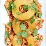 3 ingredient slow cooker recipe for Hawaiian chicken