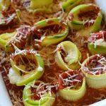 Easy slow cooker recipe for zucchini lasagna rollups