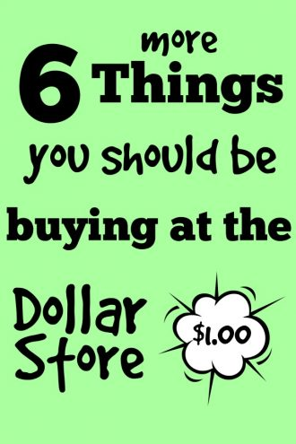 6 more things you should be buying at the dollar store!