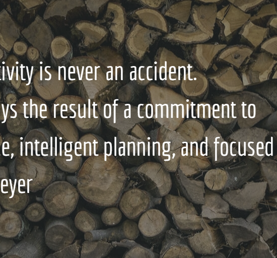 productivity is not an accident
